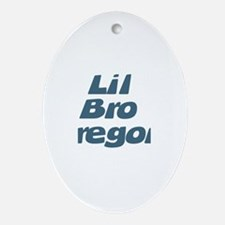 Lil Bro Gregory Oval Ornament