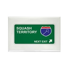 Squash Territory Rectangle Magnet
