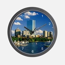 Boston Back Bay Area Wall Clock