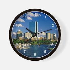 Boston Back Bay Area Wall Clock