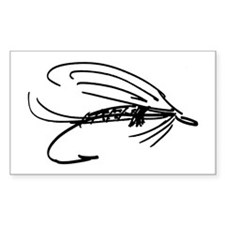 Wet Fly Lure Rectangle Decal
