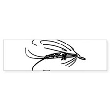 Wet Fly Lure Bumper Bumper Sticker