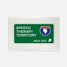 Speech, Therapy Territory Rectangle Magnet (10 pac