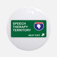 Speech, Therapy Territory Ornament (Round)