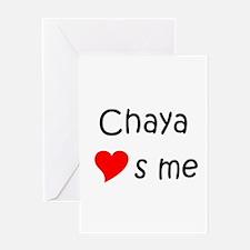 Cute Chaya Greeting Card