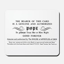 Illuminatus Pope Card Mousepad