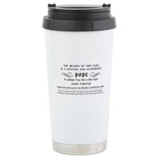 Illuminatus Pope Card Travel Mug