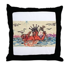 Royal Order of Jesters Throw Pillow