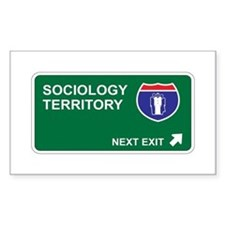 Sociology Territory Rectangle Decal
