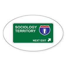 Sociology Territory Oval Decal