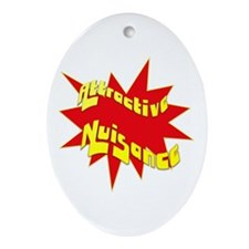 Attractive Nuisance Oval Ornament