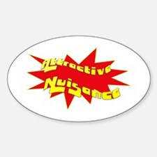 Attractive Nuisance Oval Decal