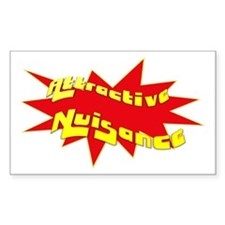 Attractive Nuisance Rectangle Decal