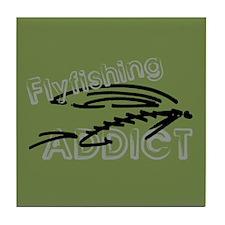Fly Fishing Addict Tile Coaster