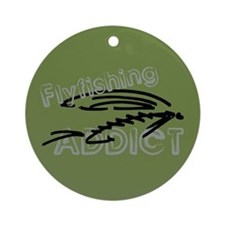 Fly Fishing Addict Ornament (Round)