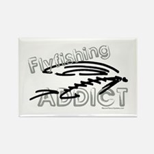 Fly Fishing Addict Rectangle Magnet