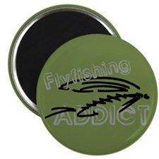 """Fly Fishing Addict 2.25"""" Magnet (100 pack)"""