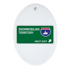 Snowmobiling Territory Oval Ornament