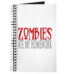 Zombies ate my homework Journal