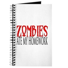Zombies ate my homework Journal