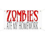 Zombies ate my homework Banner