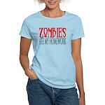 Zombies ate my homework Women's Light T-Shirt