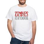 Zombies ate my homework White T-Shirt