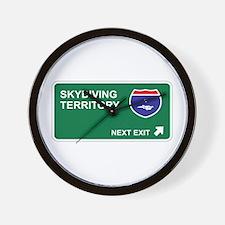Skydiving Territory Wall Clock
