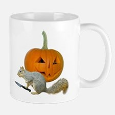 Squirrel Carving Pumpkin Mug