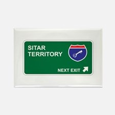 Sitar Territory Rectangle Magnet