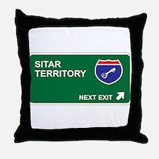 Sitar Territory Throw Pillow
