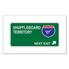 Shuffleboard Territory Rectangle Decal