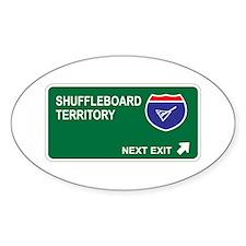 Shuffleboard Territory Oval Decal