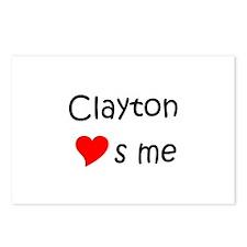 Unique Clayton Postcards (Package of 8)