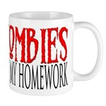 Zombies ate my homework Mug