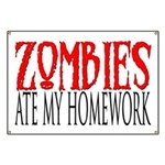 Zombies ate my homework Banner