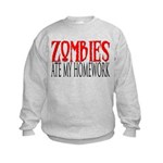 Zombies ate my homework Kids Sweatshirt