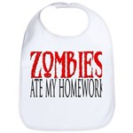 Zombies ate my homework Bib