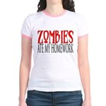 Zombies ate my homework Jr. Ringer T-Shirt