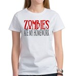 Zombies ate my homework Women's T-Shirt