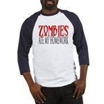 Zombies ate my homework Baseball Jersey