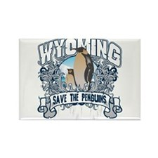 Save the Penguin Wyoming Rectangle Magnet
