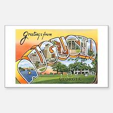 Augusta Georgia GA Rectangle Decal
