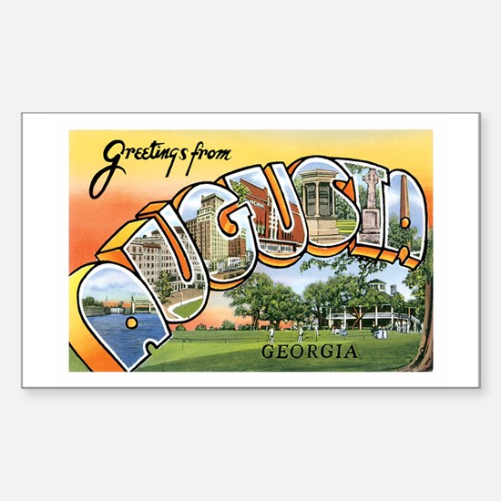 Augusta Georgia GA Rectangle Decal