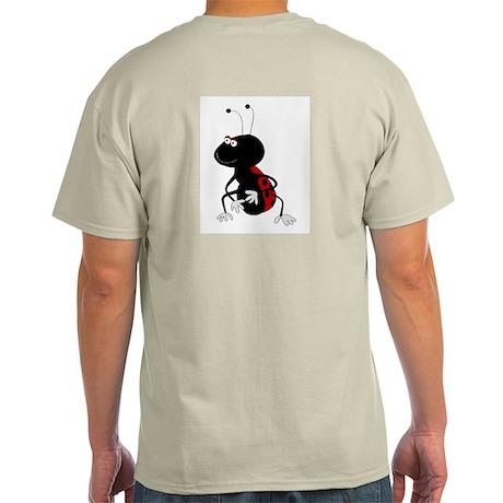 Cute Ladybug Ash Grey T-Shirt