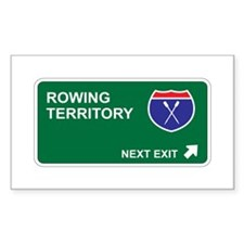 Rowing Territory Rectangle Decal