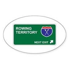 Rowing Territory Oval Decal