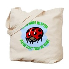 bitter litter Lady Bug Tote Bag