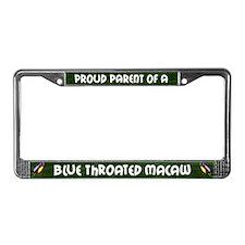 Proud Parent Blue Throat License Plate Frame