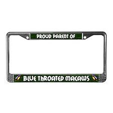 Proud Parent Multi Blue Throat License Plate Frame
